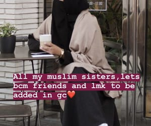 girls, hijab, and islam image