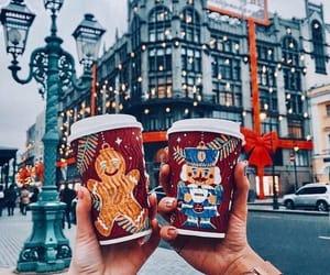 christmas, city, and snow image
