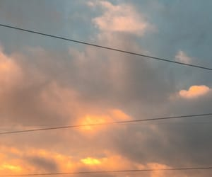 clouds, sky, and sunset image
