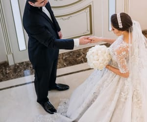 bride, couple, and Couture image