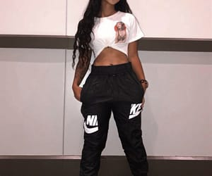 nike, outfit, and wig image