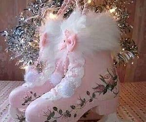 christmas, deco, and pink image