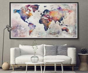 etsy, world map push pin, and wedding gift image
