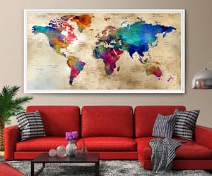 art print, colorful wall art, and extra large wall art image
