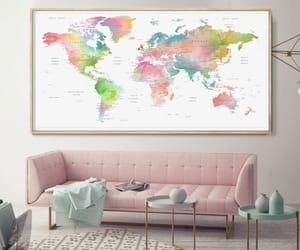 etsy, world map art, and map of the world image