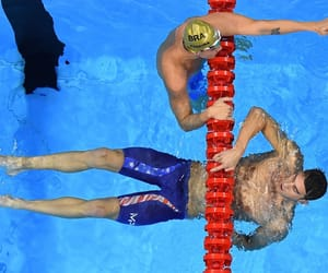 celebrity, swimmer, and diving image