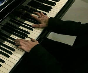 piano, aesthetic, and black image