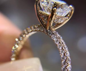 ring, diamond, and wedding image
