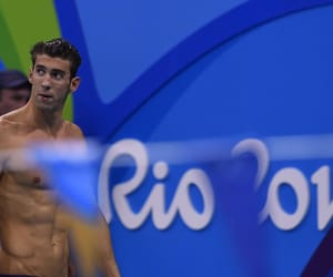 celebrity, olympics, and swimmer image