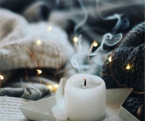 candle, cozy, and light image