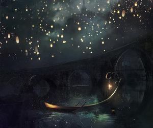 light, boat, and magic image