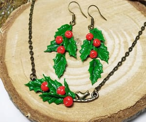etsy, holiday jewelry, and green red jewelry image