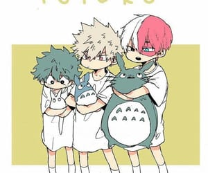 boku no hero academia, bakugou, and midoriya image