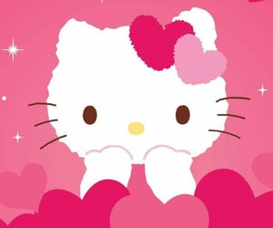 hearts, cute, and hello kitty image