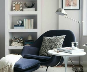 room, blue, and cozy image