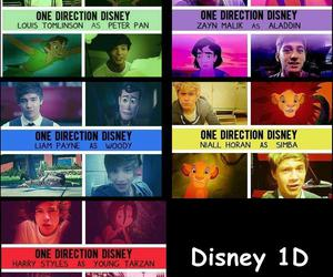 one direction, disney, and 1d image