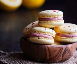 dessert, food, and macarons image