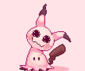 kawaii, pink, and pixels image