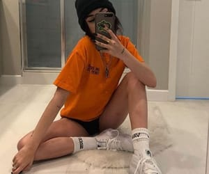 cool, orange, and outfit image