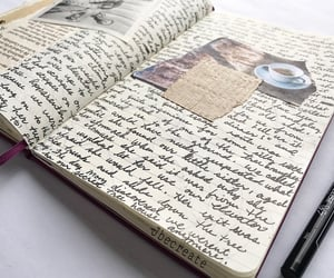 art journal, hand written, and journals image