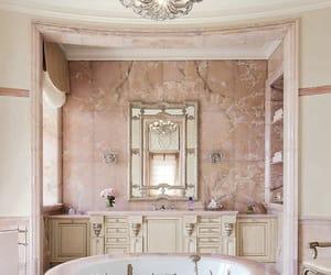 bathroom, pink, and luxury image