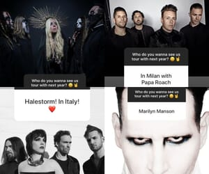 Marilyn Manson, maria brink, and forever still image