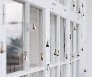 bells, christmas, and window image