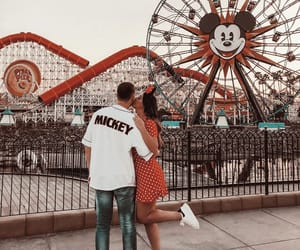 couples, love, and mickey mouse image