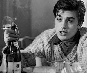 Alain Delon, vintage, and actor image
