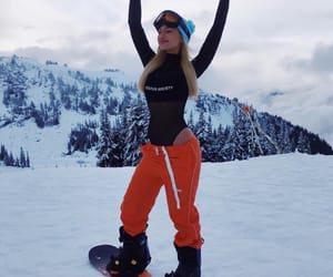 bae, cold, and snowboard image