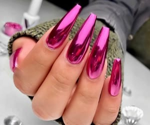 nails, pink, and acrylic image