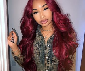 burgundy, hair, and pretty image