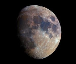 galaxy, moon, and nasa-esa-hubble image