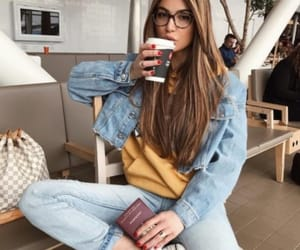 glasses, jeans, and look image