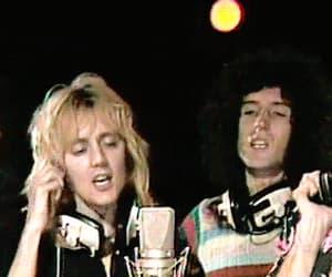 Freddie Mercury, john deacon, and gif image