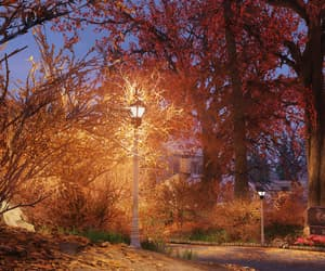 autumn, lamp, and fall colors image