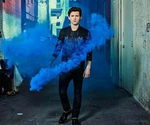 tom holland, blue, and Marvel image