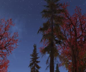 fallout, trees, and red image