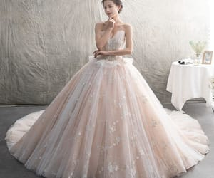 bridal, sweetheart wedding dress, and gorgeous wedding dress image