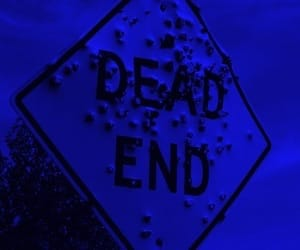 aesthetic, blue, and dead end image