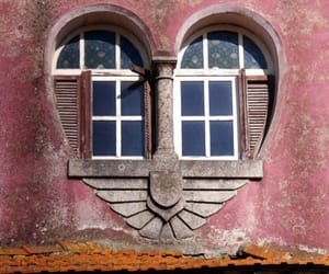 heart, window, and pink image