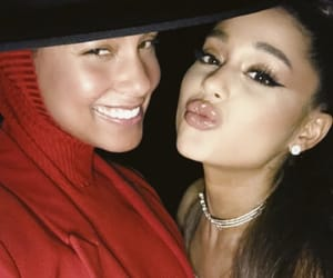 ariana grande and alicia keys image