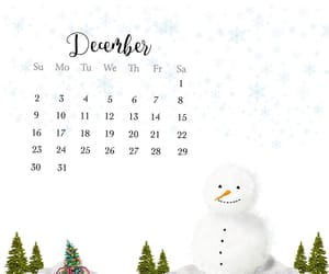 christmas, snow, and december image