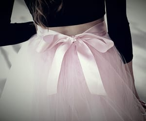 skirt, fashion, and bow image
