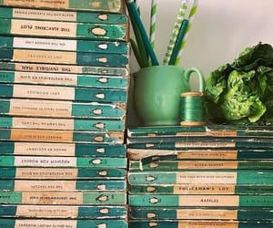 green, books, and aesthetic image