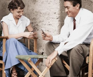 audrey hepburn, gregory peck, and cards image