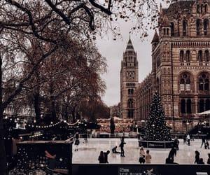 winter, city, and christmas image