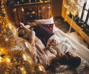 christmas, couple, and couples image