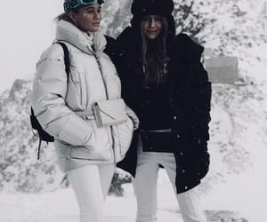 besties, fashion, and snow image