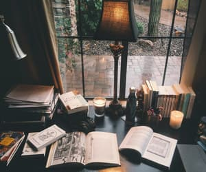 book, candle, and study image